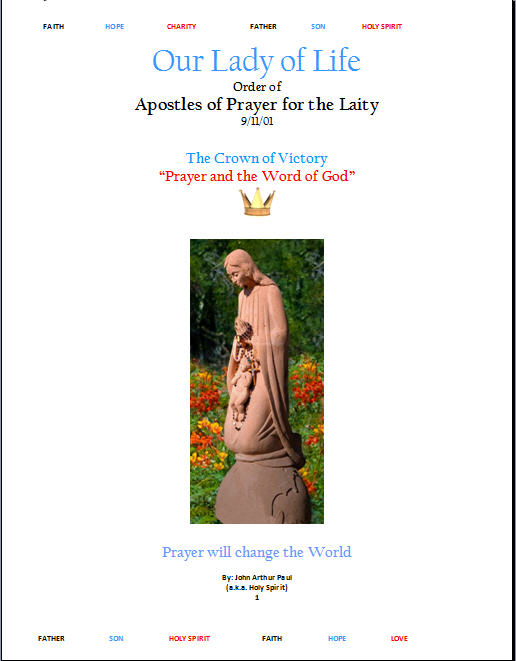 Our Lady of Life -Apostles of Prayer Cover